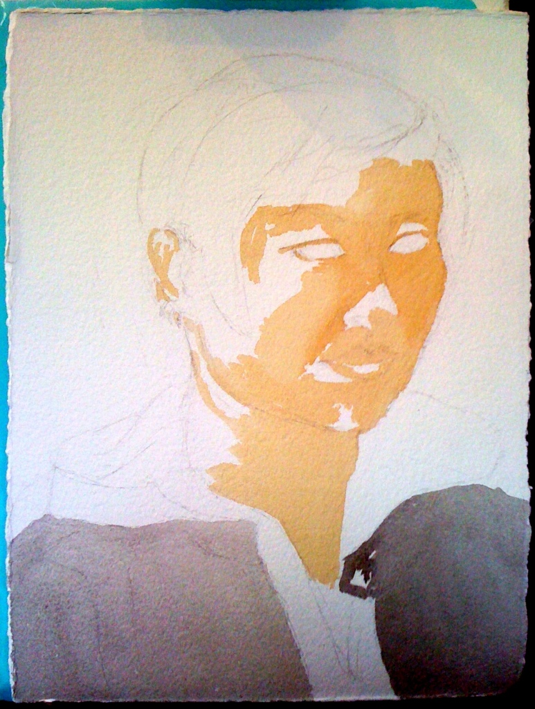 Portrait of Stephanie (process photo), by Lisa Hsia