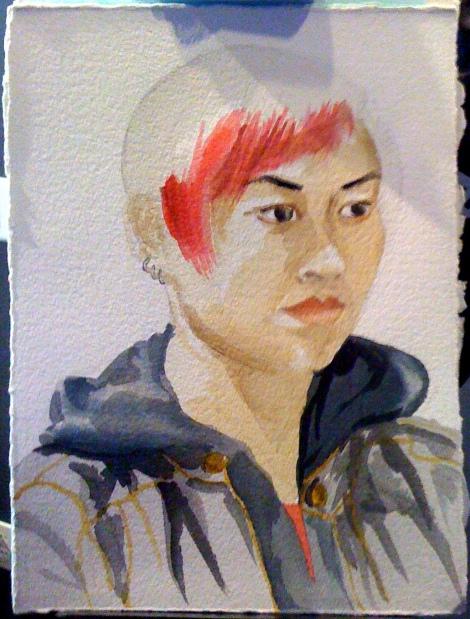 Portrait of Stephanie (process photo), by Lisa Hsia