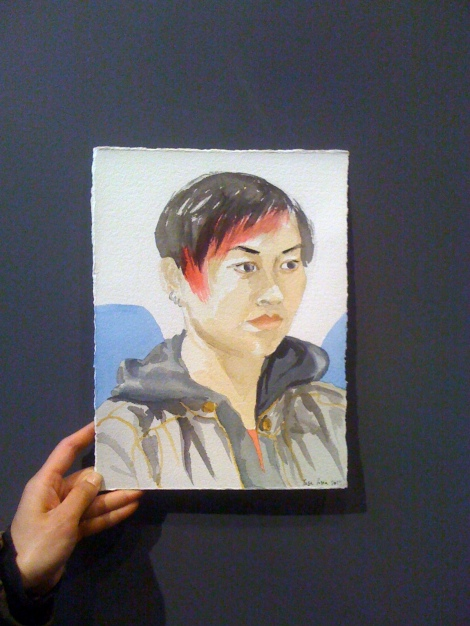 Portrait of Stephanie (and her hand!), by Lisa Hsia
