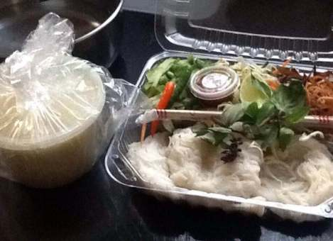 Khmer noodles from Mithapheap market, Oakland, CA