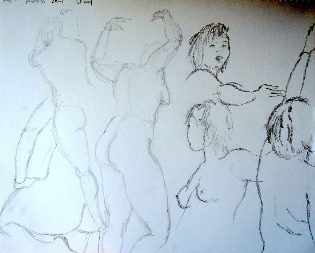 Nude gesture sketches, by Lisa Hsia