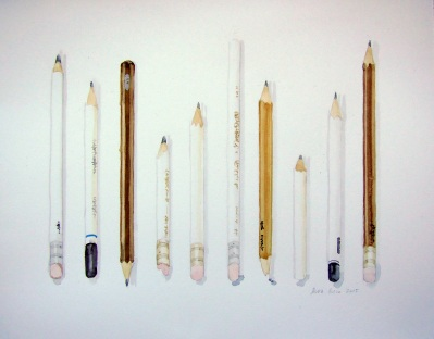 Pencils, illustration for Vanessa Mártir's
