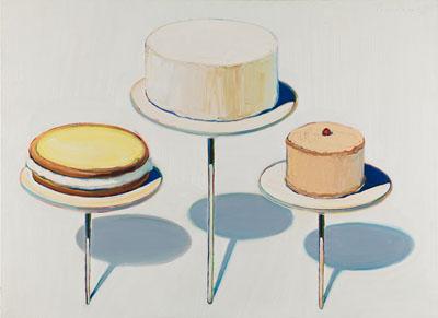 Wayne Thiebaud, Display Cakes, 1963