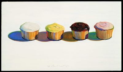 Wayne Thiebaud, Four Cupcakes, 1971