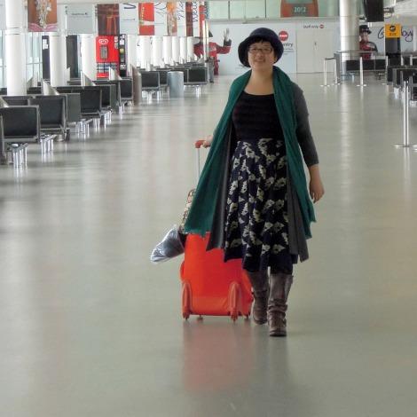 Lisa at Heathrow
