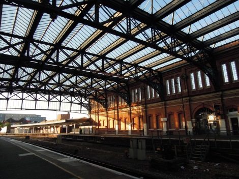Bournemouth train station in the early morning