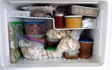 Contents of my freezer, March 2016