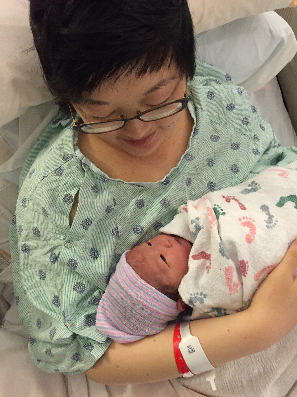 Lisa and baby