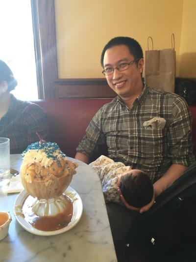 Erik, Ada, and Myrtle's Creation special sundae
