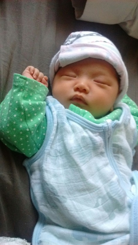 Baby Ada, just over three weeks old