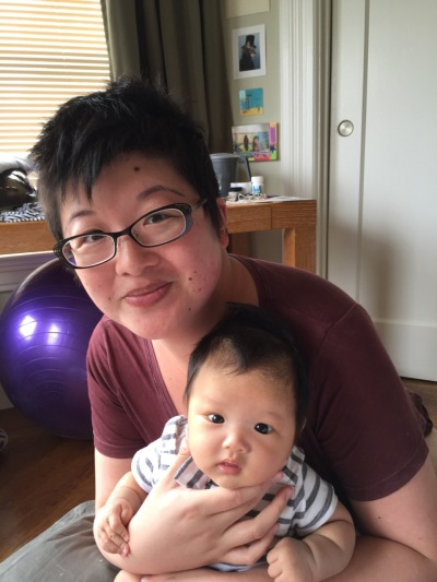 Lisa and two and a half-month-old Ada