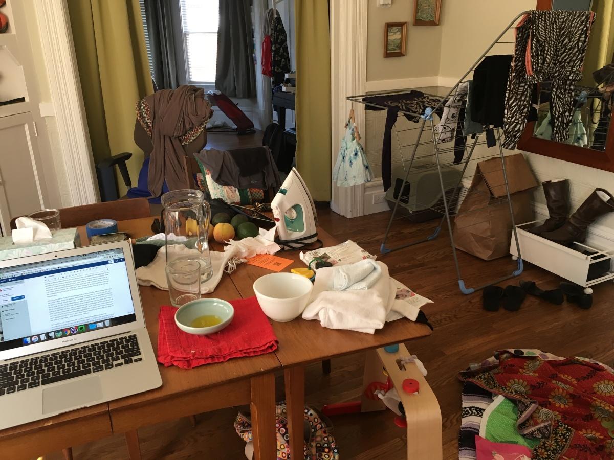 messy main room