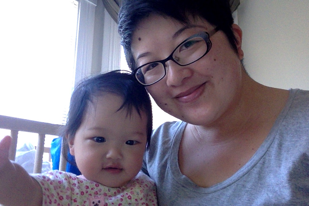 Lisa and baby Ada selfie