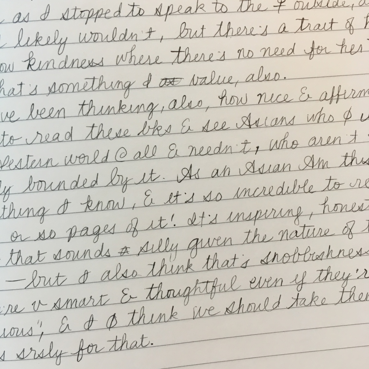 Handwritten journal entry on ruled paper