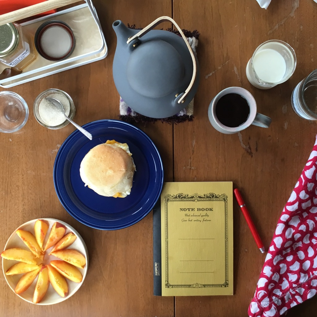 Breakfast and journaling