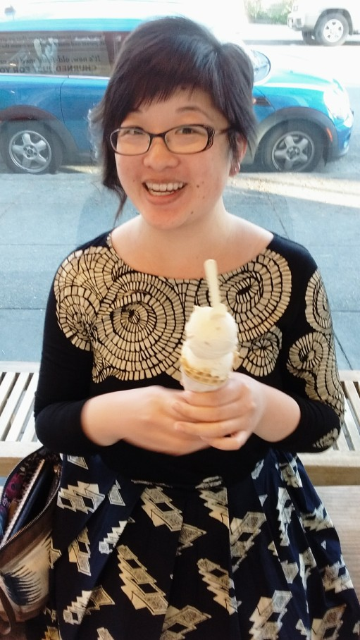 Lisa with ice cream, 2015