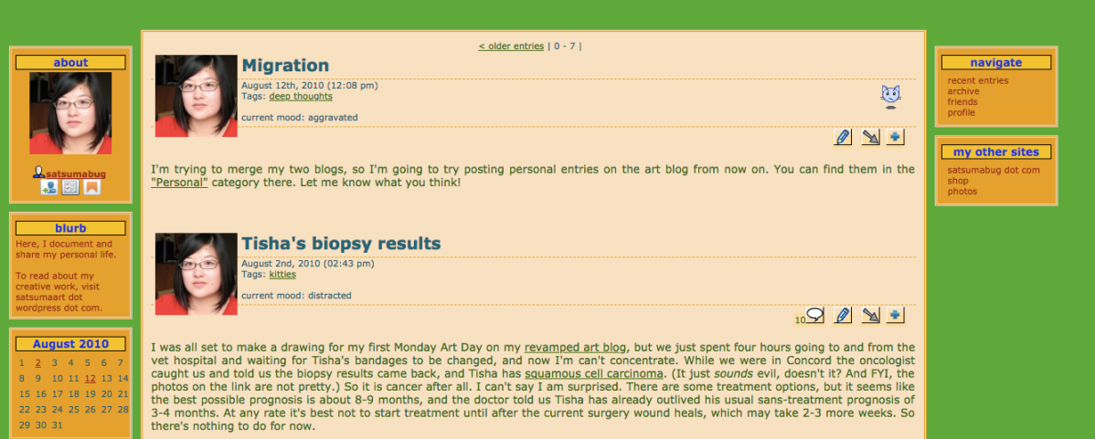LiveJournal screenshot