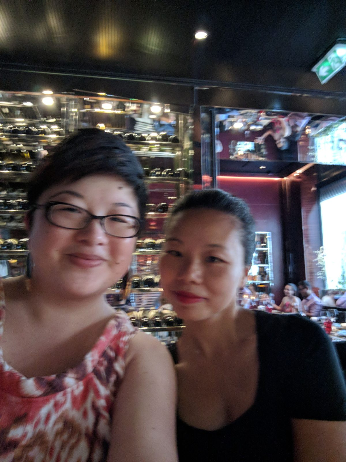 Friends at L'Atelier de Joel Robuchon, Paris