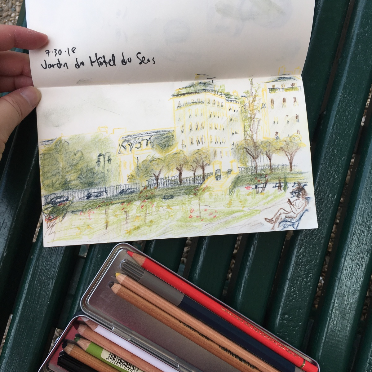 garden sketch in Paris by Lisa Hsia