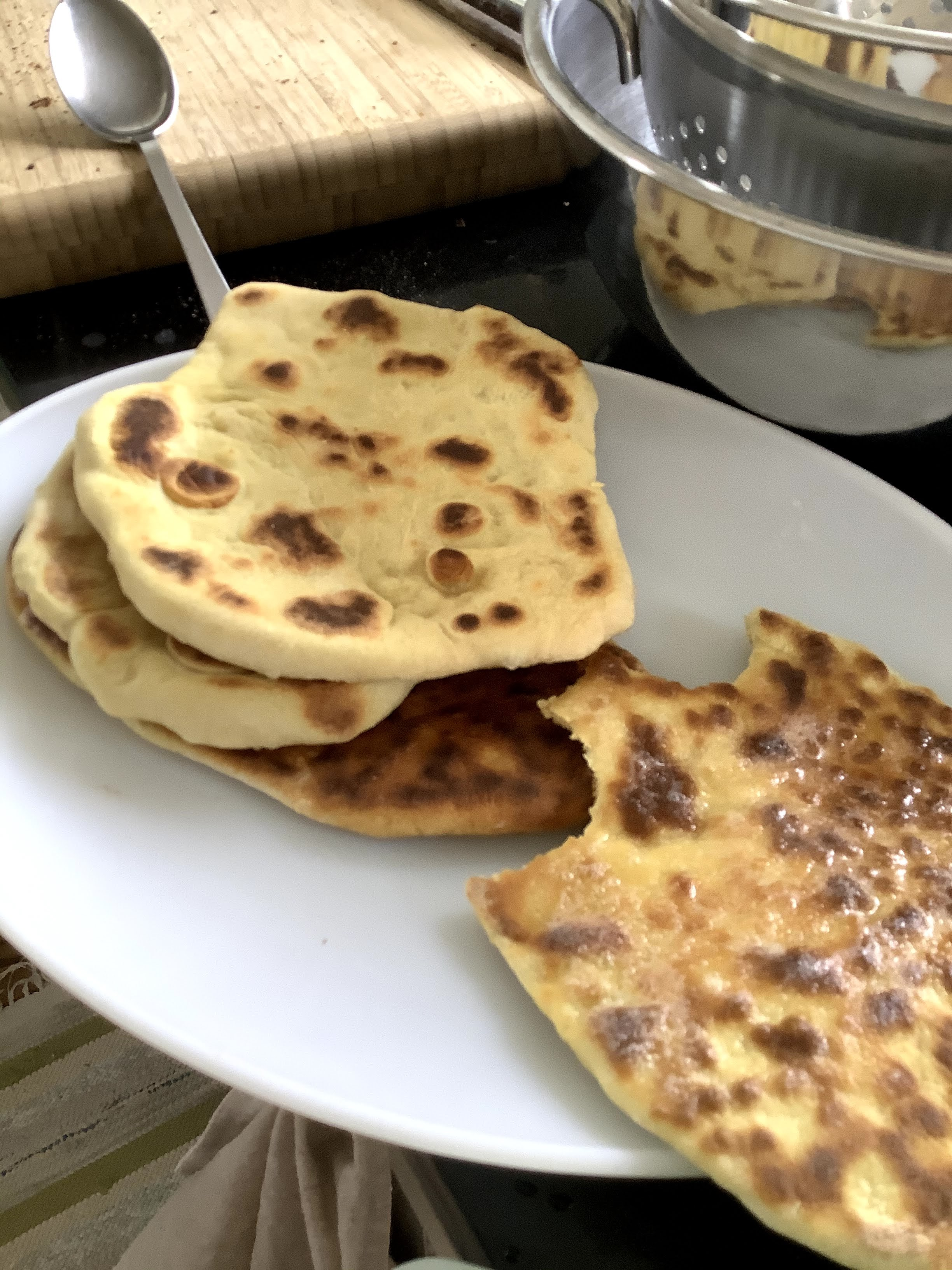 Flatbreads on a plate