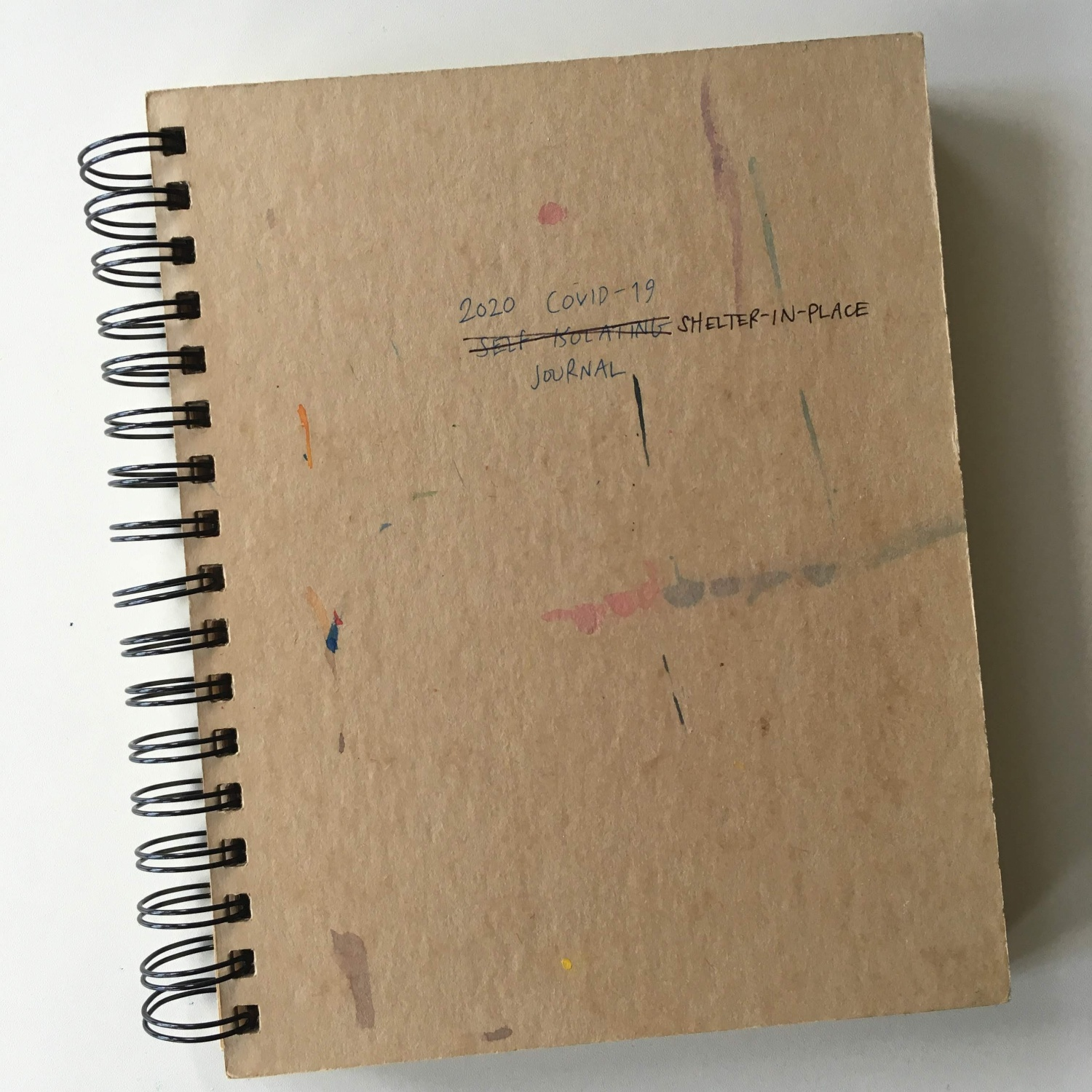 Spiralbound brown kraft notebook